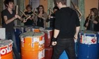 Répétitions à l'école en vue d'un flash-mob (9)
