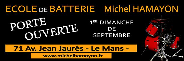 affiche porte ouverte école de batterie Michel Hamayon
